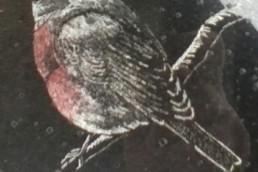 robin headstone