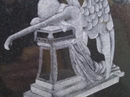 Weeping Angel Headstone Essex