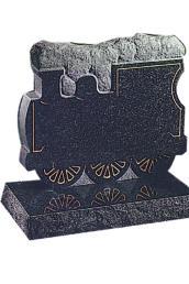 train headstone
